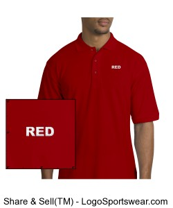 RED Men\'s Polo Design Zoom