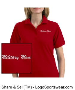 Military Mom Polo, red Design Zoom
